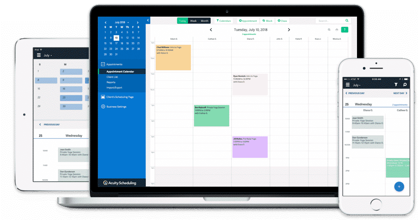 Acuity Scheduling Answering Service Integration