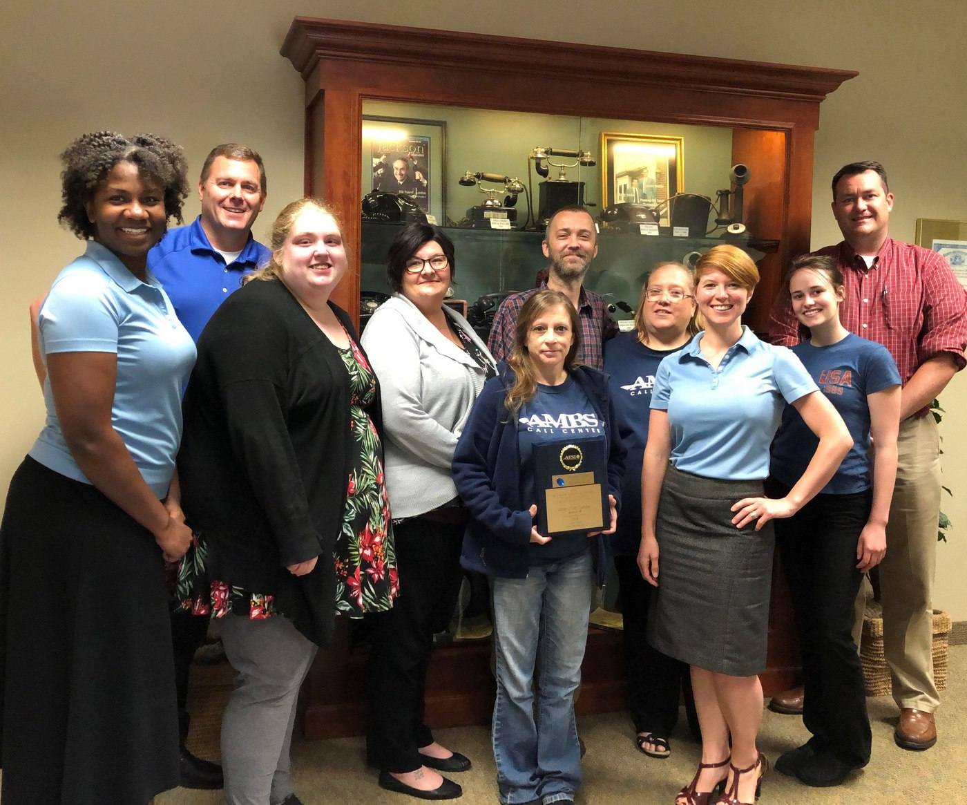 Ambs Call Center Jackson Michigan ATSI 2019 Award
