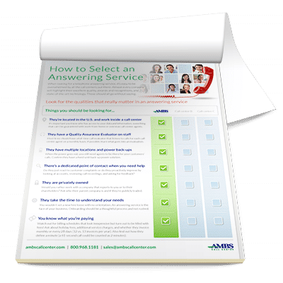 How to select an answering service checklist