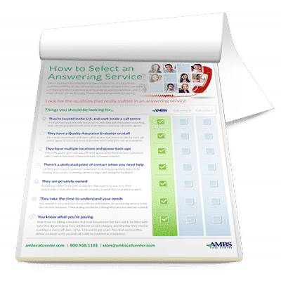 Medical Answering Service checklist