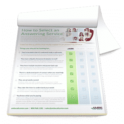 Answering Service Comparison Checklist