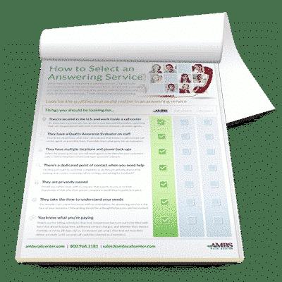 Answering Service Comparison Checklist