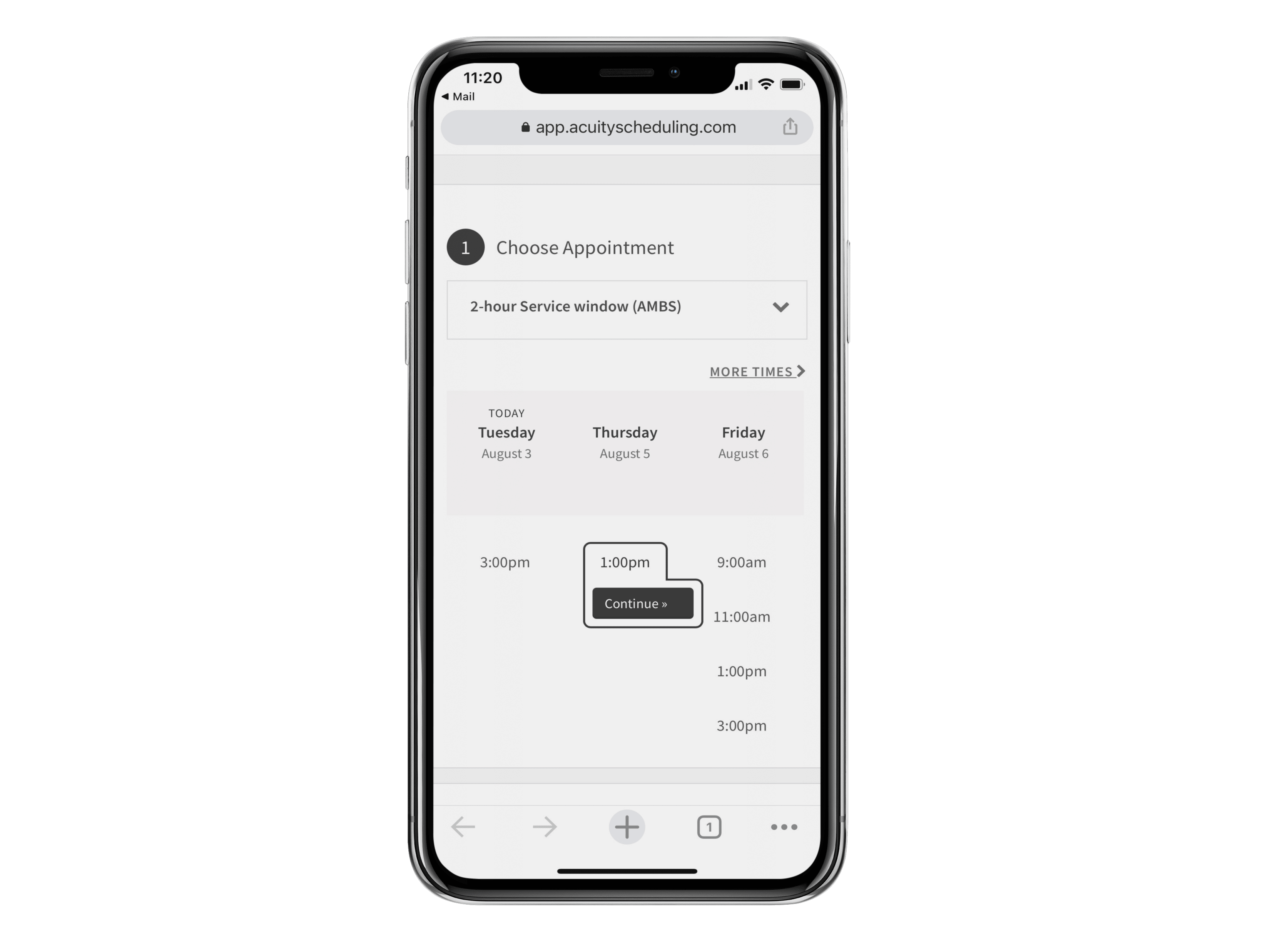 Acuity Scheduling Integration iPhone