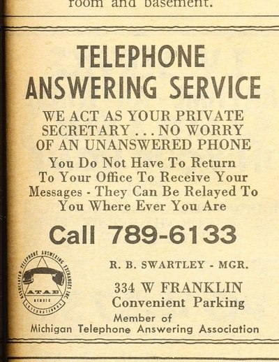 1965 yellow pages answering service ambs call center
